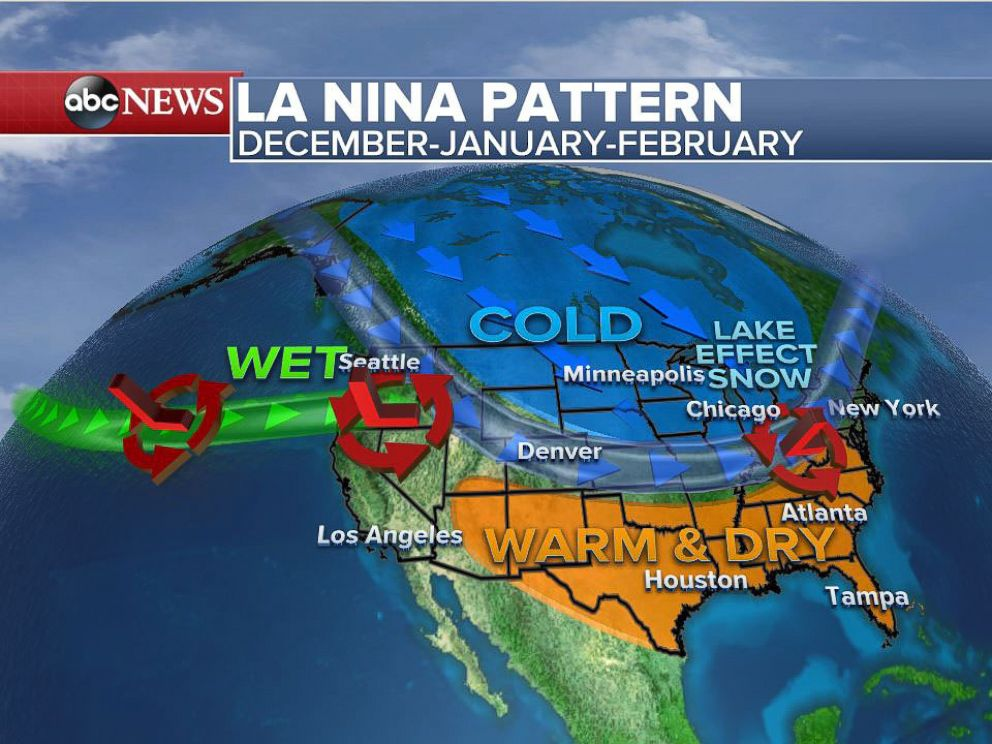 Forecasters Predict Wet Cool Winter for North Dry Warm Winter