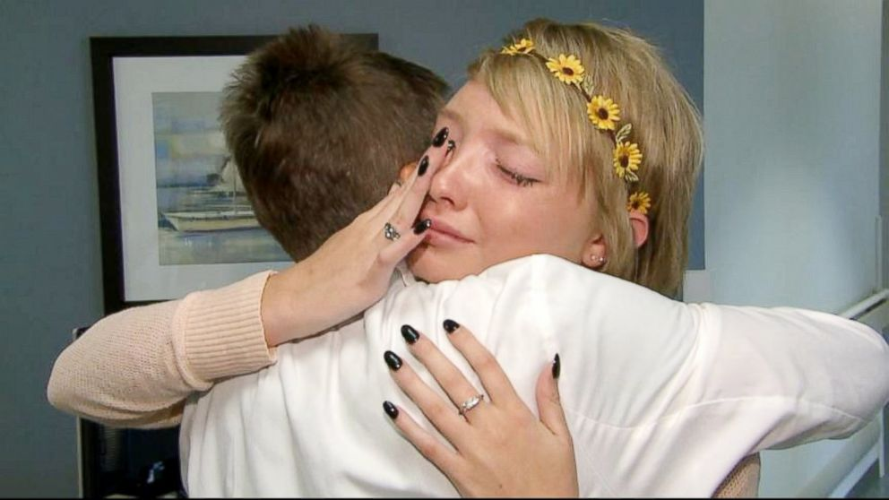 PHOTO: Sidney Good was reunited with doctors and nurses at the Gulf Coast Regional Medical Center in Panama City, Florida, one year after she was seriously injured in a July 1, 2013 parasailing accident.
