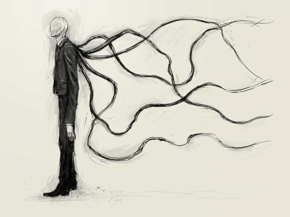 An illustration of Slender Man.
