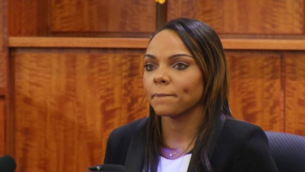 PHOTO: Shayanna Jenkins testifies during Aaron Hernandez murder trial, March 30, 2015, in Fall River, Mass.