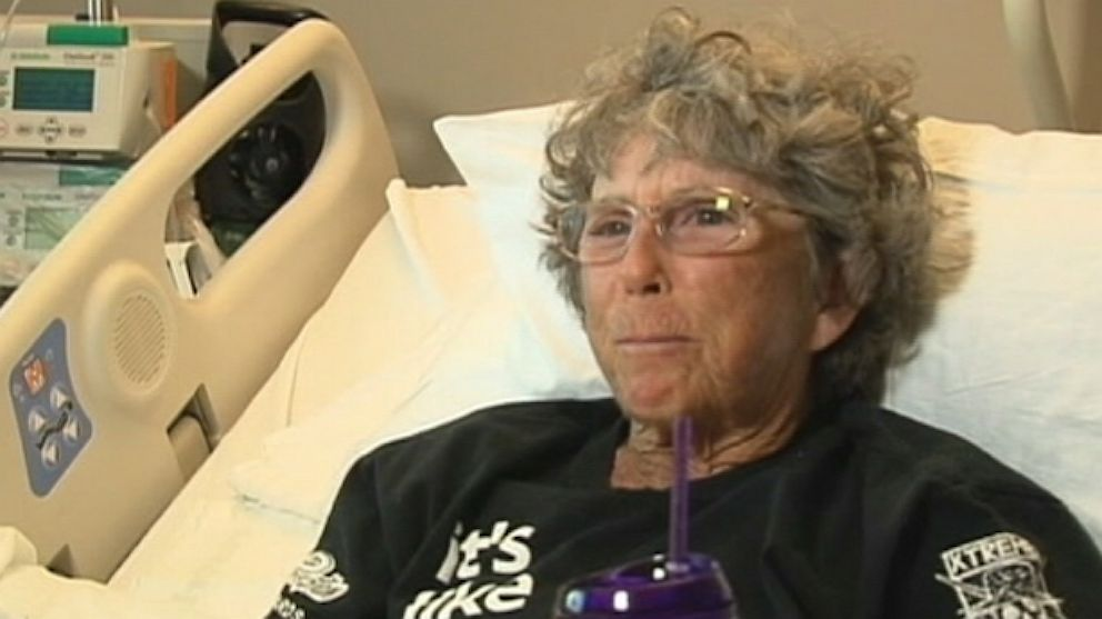PHOTO: Barbara Corey recovers from a shark attack.