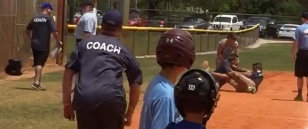 PHOTO: A spectators video from a Little League baseball game in Cooper City, Florida, captured what can happen when adults lose their cool on the field.