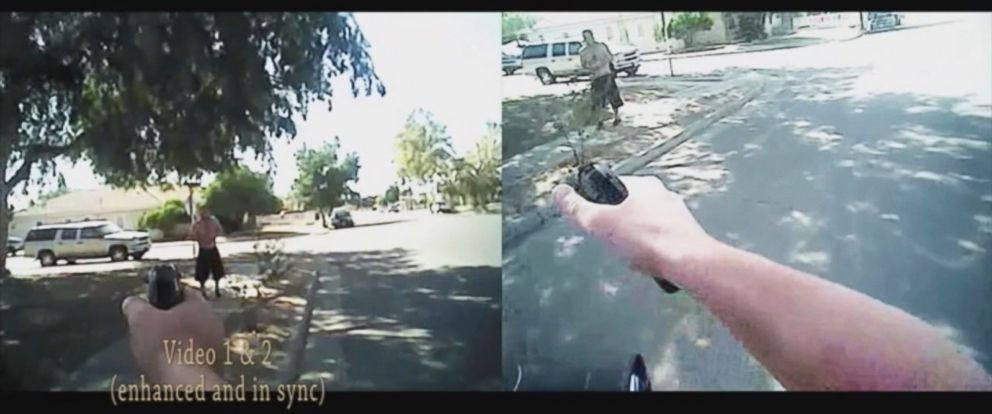 PHOTO: Body camera footage shows the moment two Fresno Police Department officers shot a mentally-ill man seven times in September.