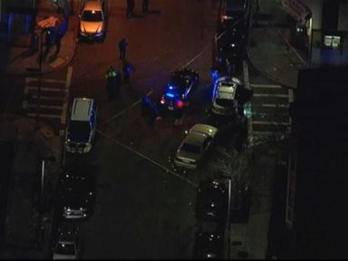 PHOTO: A Boston police officer was shot during a motor vehicle stop in Roxbury on March 27, 2015.