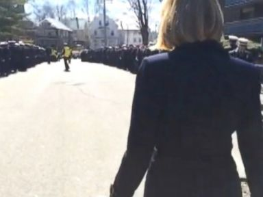 Thousands Pay Respects to Firefighters Killed in Boston