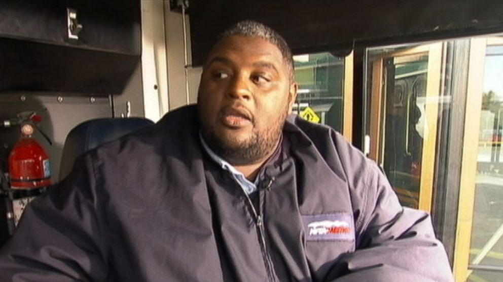 PHOTO: Darnell Barton, a Buffalo bus driver, rescued a woman who appeared to be preparing to jump from a highway overpass.