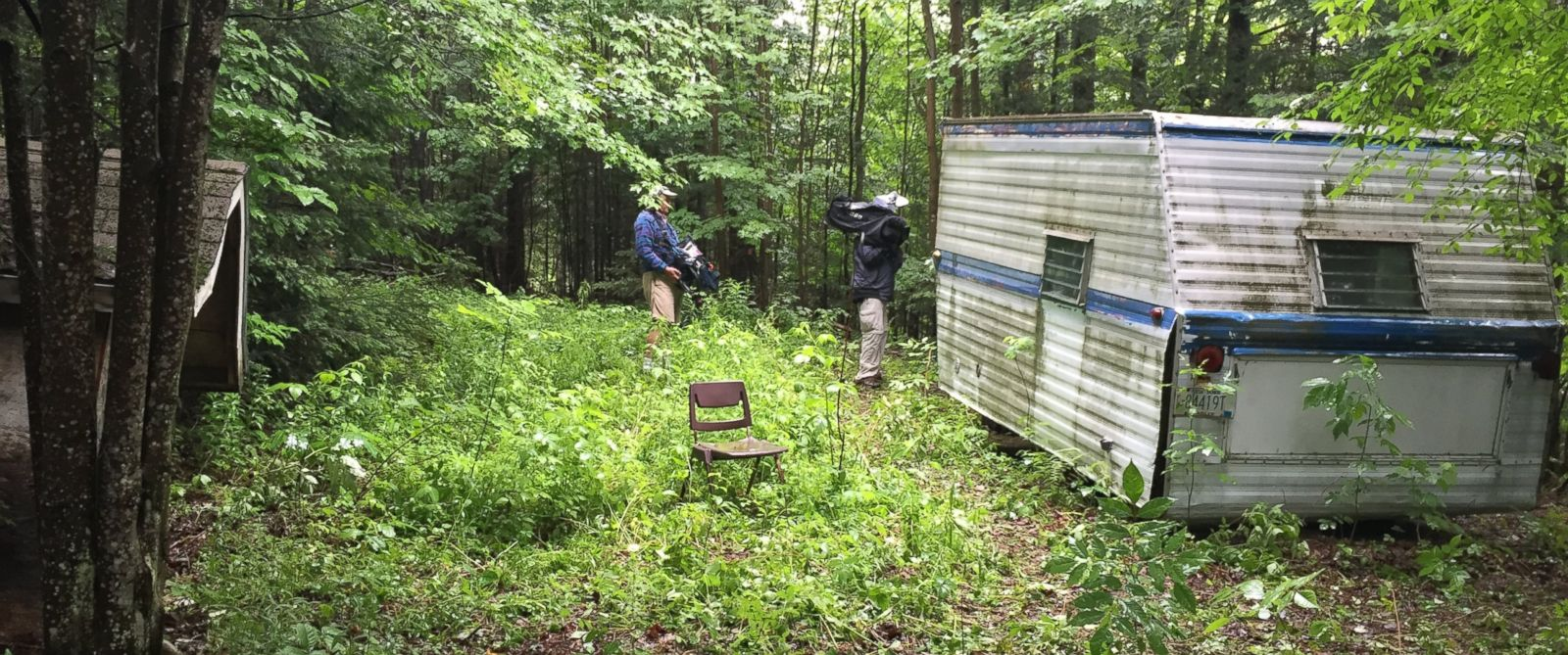 PHOTO: ABC News gets a look at a previously unknown camper that Richard Matt was confirmed to have spent time in while on the run.