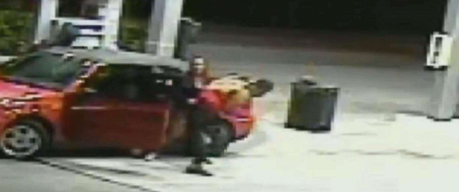 PHOTO: Surveillance footage shows a mother fighting off carjackers at a gas station in Hialeah, Florida.