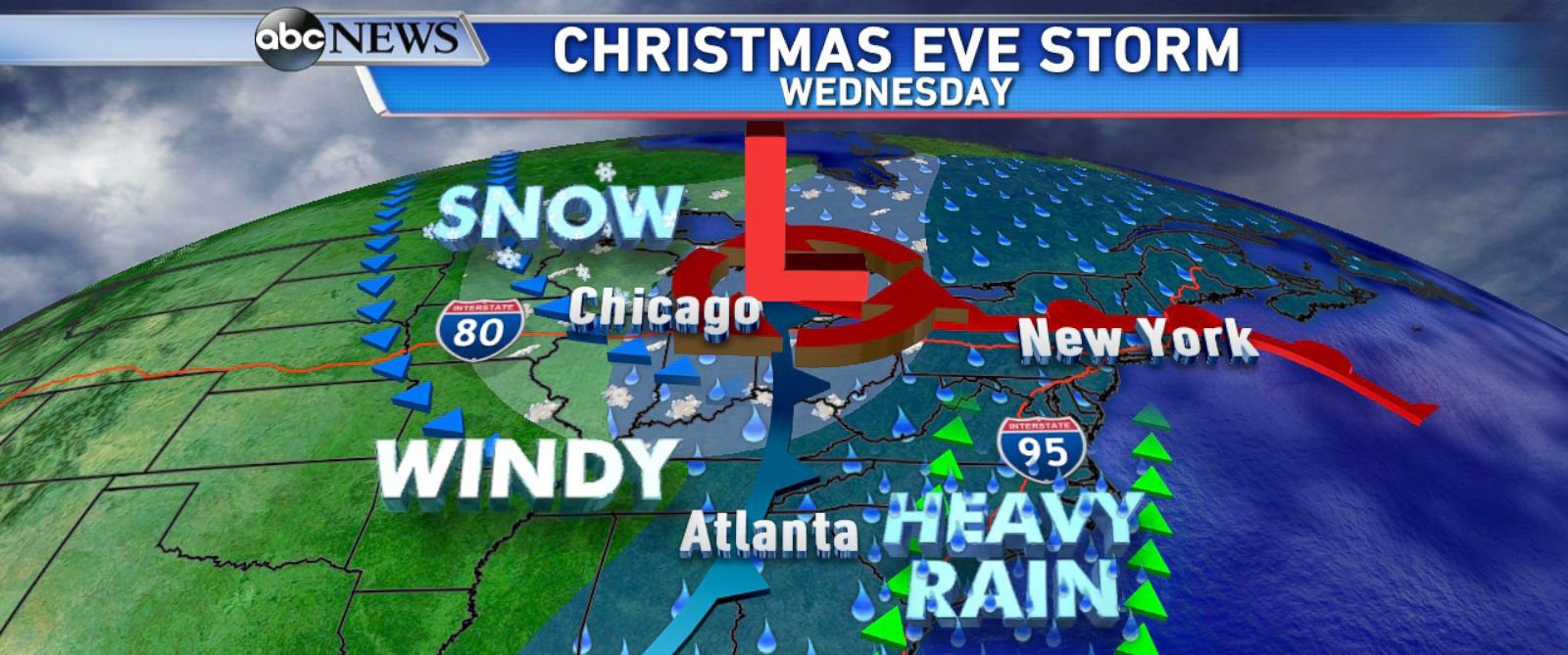 Christmas Forecast Stormy Week To Bring Severe Weather And Lots - Usa extreme weather map