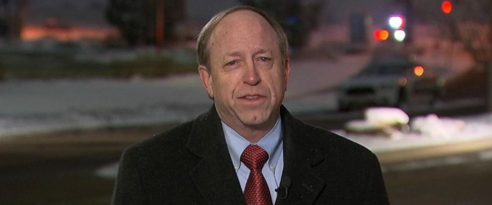 PHOTO: Colorado Springs Mayor John Suthers is interviewed on This Week on Nov. 29, 2015.