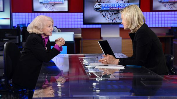 ABC edie windsor diane sawyer 1 ll 130626 16x9 608 Edie Windsor Sits Down for an Interview with Diane Sawyer After DOMA Ruling from Supreme Court, Airs Tonight on ABC World News