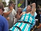 PHOTO: Efstathios Moumouris is recovering after falling overboard on his fishing boat and treading water for 18 hours.