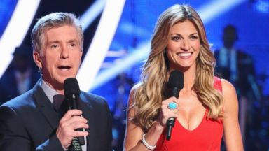 "PHOTO: Erin Andrews, right, hosts ""Dancing with the Stars"" alongside Emmy-Award Winner Tom Bergeron for its 18th season."