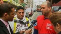 PHOTO: Two men describe rescuing a victim of the building collapse in East Harlem.