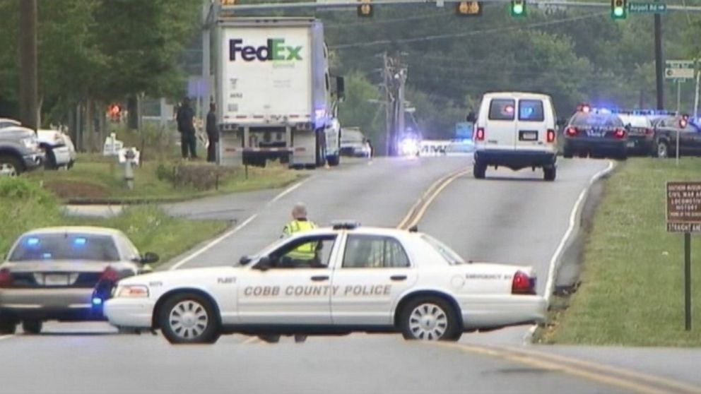 PHOTO: A workplace shooting at a FedEx warehouse in Georgia has resulted in multiple injuries, officials said.<br /><br />