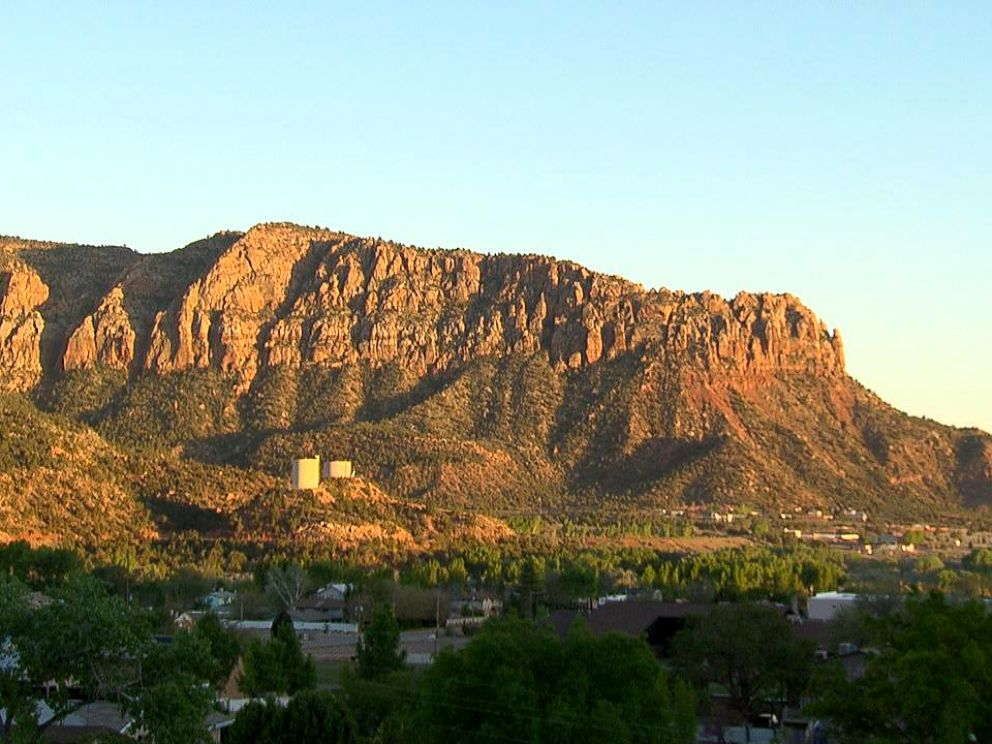 PHOTO: The FLDS, a polygamist sect, dominates the twin towns of Colorado City, Arizona, which is picture here, and Hildale, Utah.