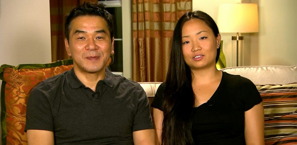PHOTO: Eugene Rah and Eunice Rah discuss the San Francisco plane crash.