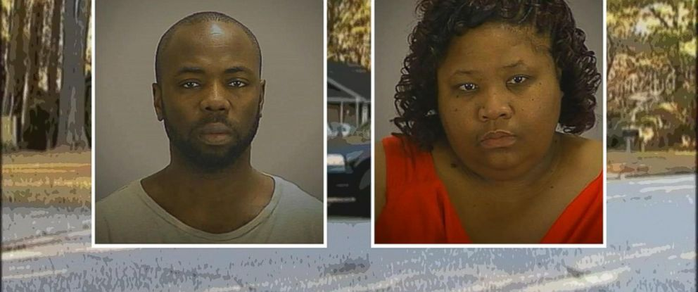PHOTO: Gregory Jean, 37, and Samantha Davis, 42, charged with false imprisonment after police found Jeans son hidden inside their home in Clayton County, Georgia.