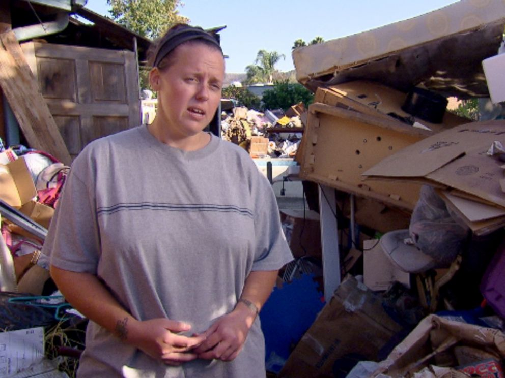 Photo: Kira recently sold her hoarder home filled to the ceiling with clothing, toys and trash.