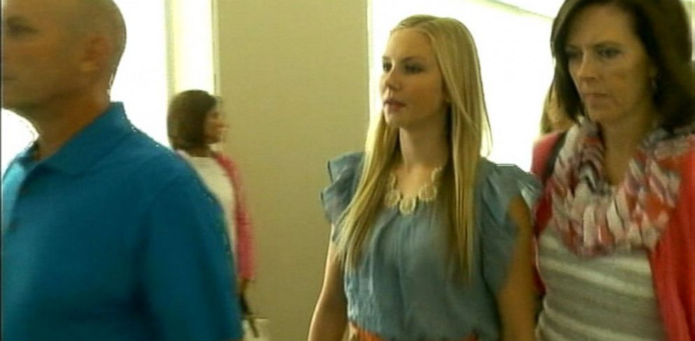 PHOTO: Former Miss Riverton Kendra Gill, pictured in court, Aug. 29, 2013, is charged with throwing homemade bombs.