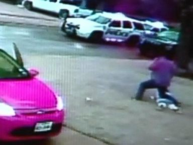PHOTO: Pastor Benny Holmes pinned the robber to the ground until the police came to arrest her.