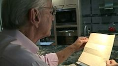 PHOTO: Chuck Kunellis found 69 year old handwritten World War II letters in his mailbox.