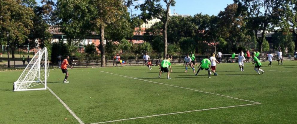 PHOTO: La Union team hosting their Saturday game at Mullaly Park in the Bronx.