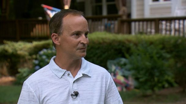 PHOTO: Mike Mead talks to ABC News about the murder of Lucy Johnson, to whom he was engaged.