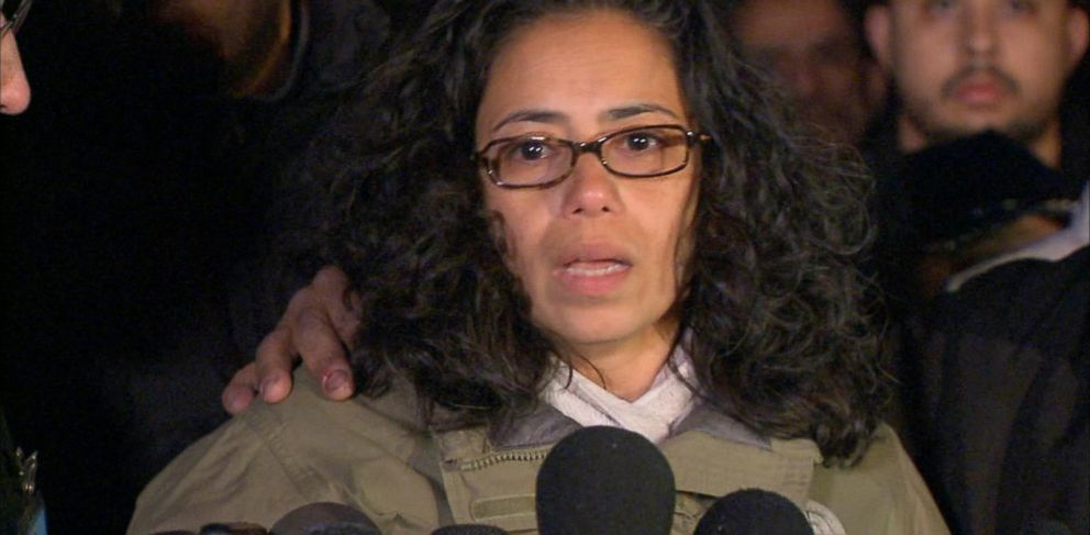 PHOTO: Lucy Ramos, the aunt of slain police officer Rafael Ramos speaks at a news conference, Sunday, Dec. 21, 2014.