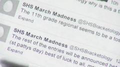 PHOTO: Someone made a March Madness-style bracket ranking high school girls on Twitter at Shaker High School in Latham, NY.