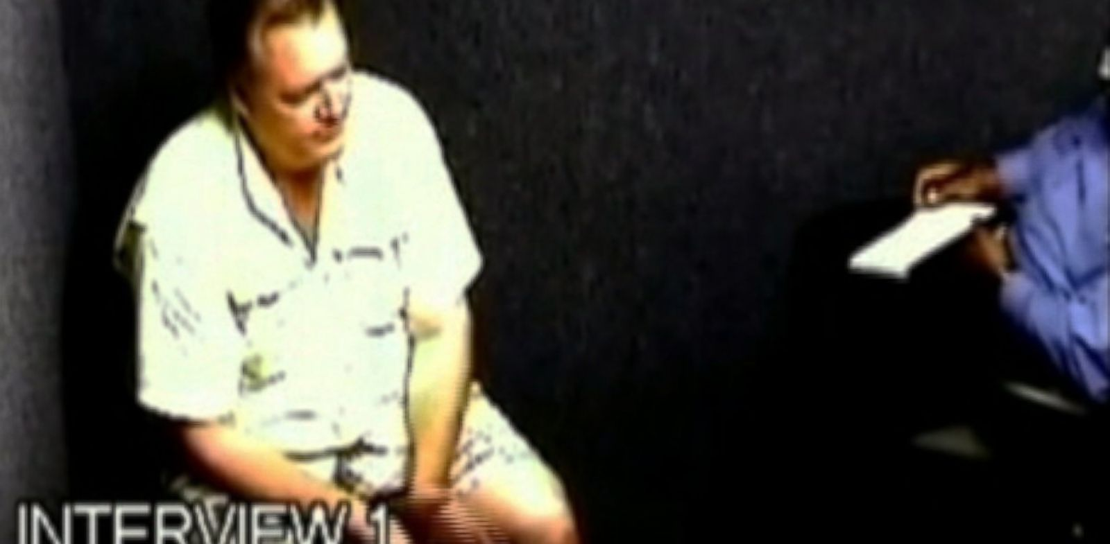 PHOTO: Footage from Michael Dunns interrogation.