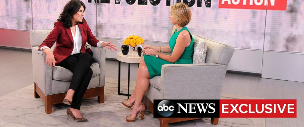 PHOTO: Anti-bullying activist Monica Lewinsky speaks with ABC's Amy Robach in exclusive ABC News interview.