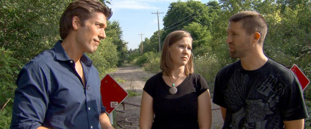 PHOTO: Stacie and Joe Leutner, shown here with ABC's David Muir, left, spoke for the first time about recovering from the horrific ordeal.