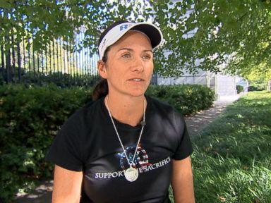 PHOTO: Nancy Lacore, a 24-year veteran of the U.S. Navy, ran 160 miles in 160 hours to honor fallen servicewomen.
