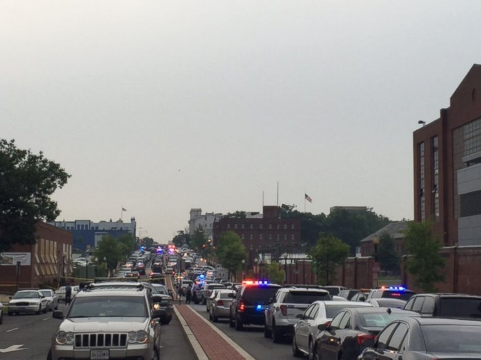PHOTO: The Washington Navy Yard was placed on lockdown on July 2, 2015.