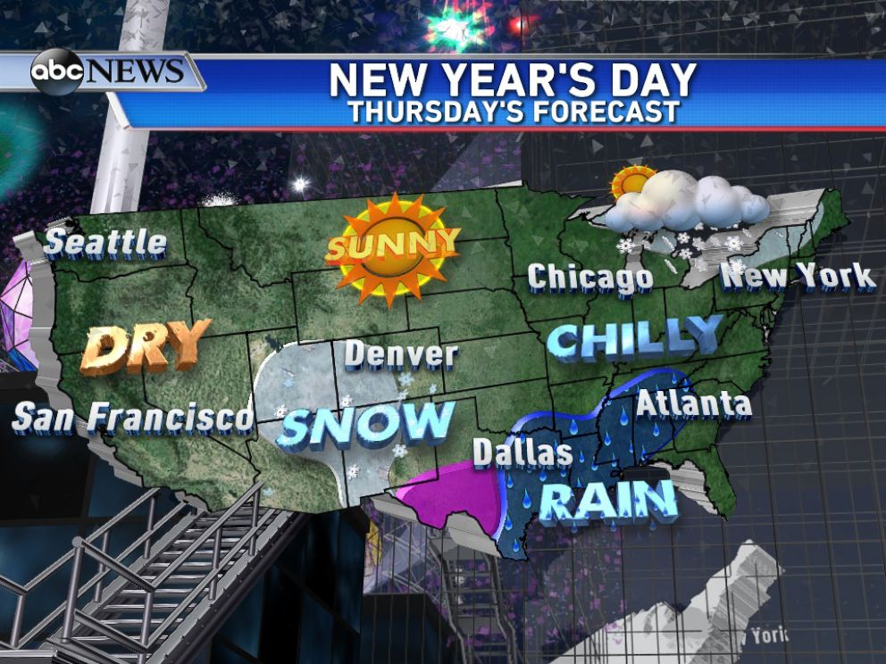 PHOTO: National Outlook for New Years Day