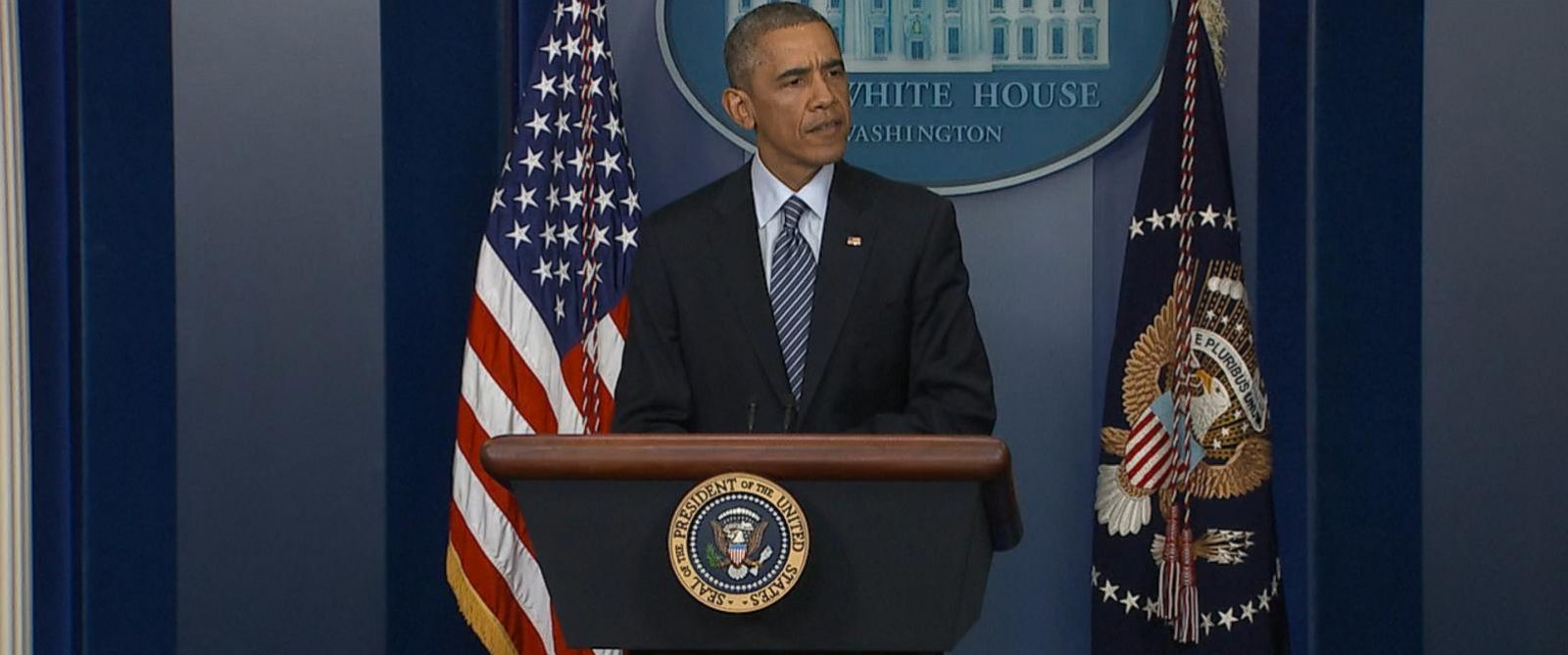 PHOTO: President Barack Obama speaks at a press conference