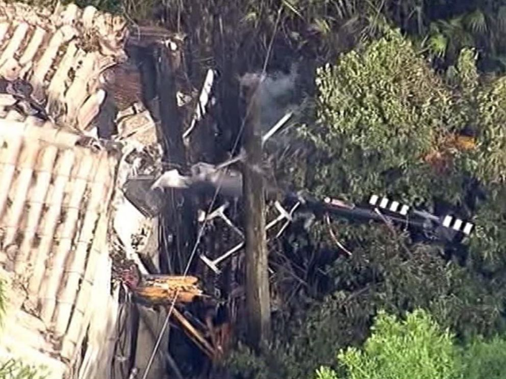 PHOTO: A helicopter crashed into a two-story home in Orlando, Fla., March 22, 2015.
