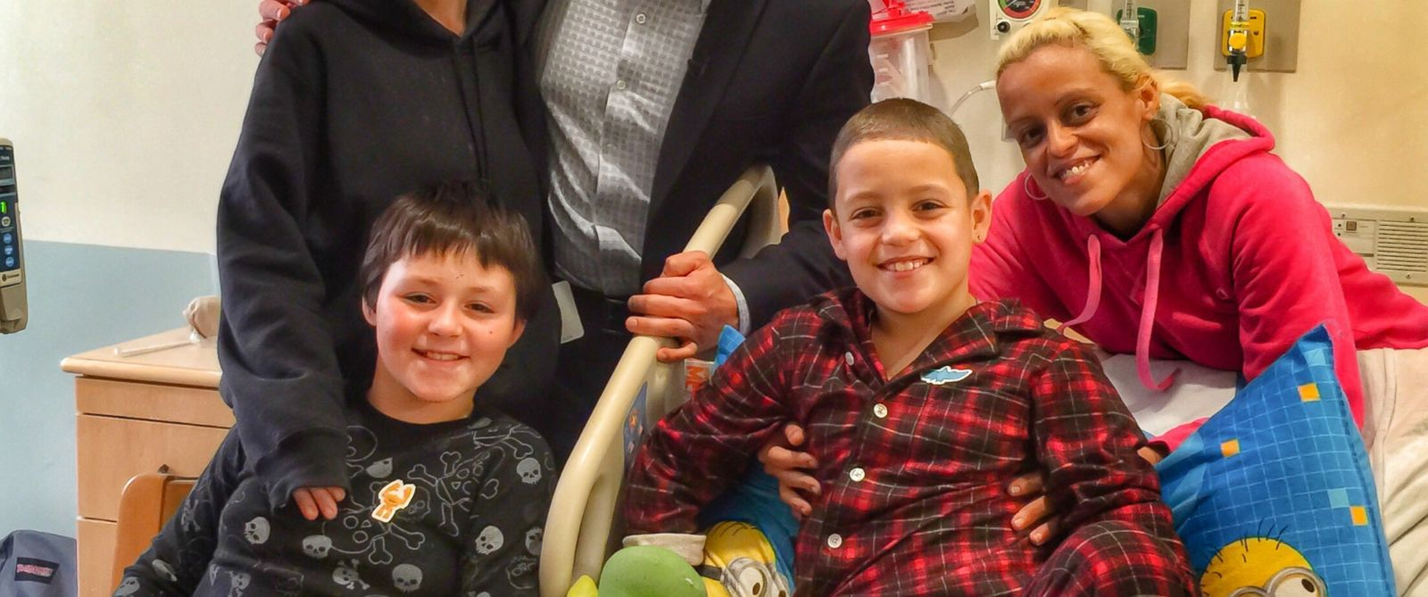 PHOTO: Cousins Jason Rivera, 9, and Elijah Martinez, 11, told ABC News they were feeling good today after being buried under 7 feet of snow.