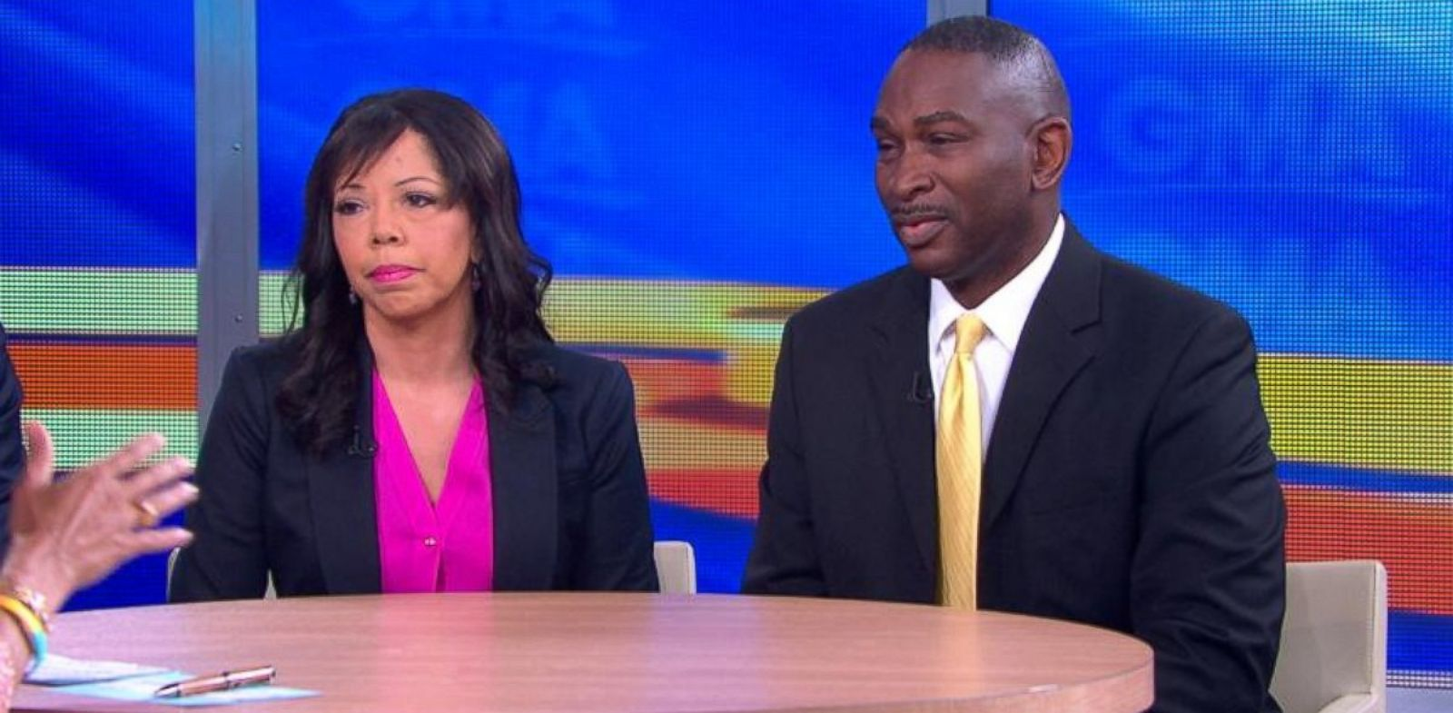 PHOTO: Jordan Davis parents, Lucia McBath and Ronald Davis, on Good Morning America, Feb. 19, 2014.