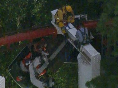 High Drama: Riders Suspended on Stalled Roller Coaster