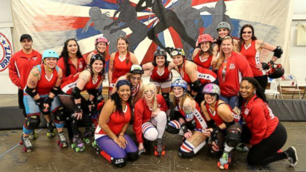 VIDEO: Knockdowns and Friendships in All Female Military Roller Derby Team