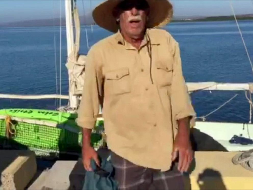 PHOTO: Fisherman Ron Ingraham was stranded at sea off the coast of Hawaii for 12 days.