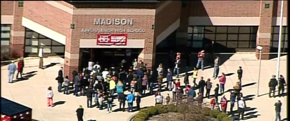 PHOTO: Four students were injured in a shooting at a Middletown, Ohio, school, Feb. 29, 2016. The school is part of the Madison Local Schools district.