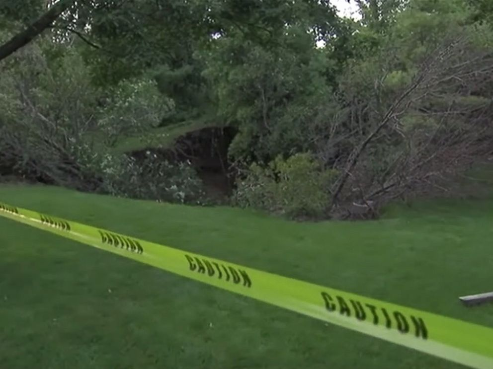 PHOTO: An Indiana couples backyard features a sinkhole thats 40 feet wide and 30 feet deep.