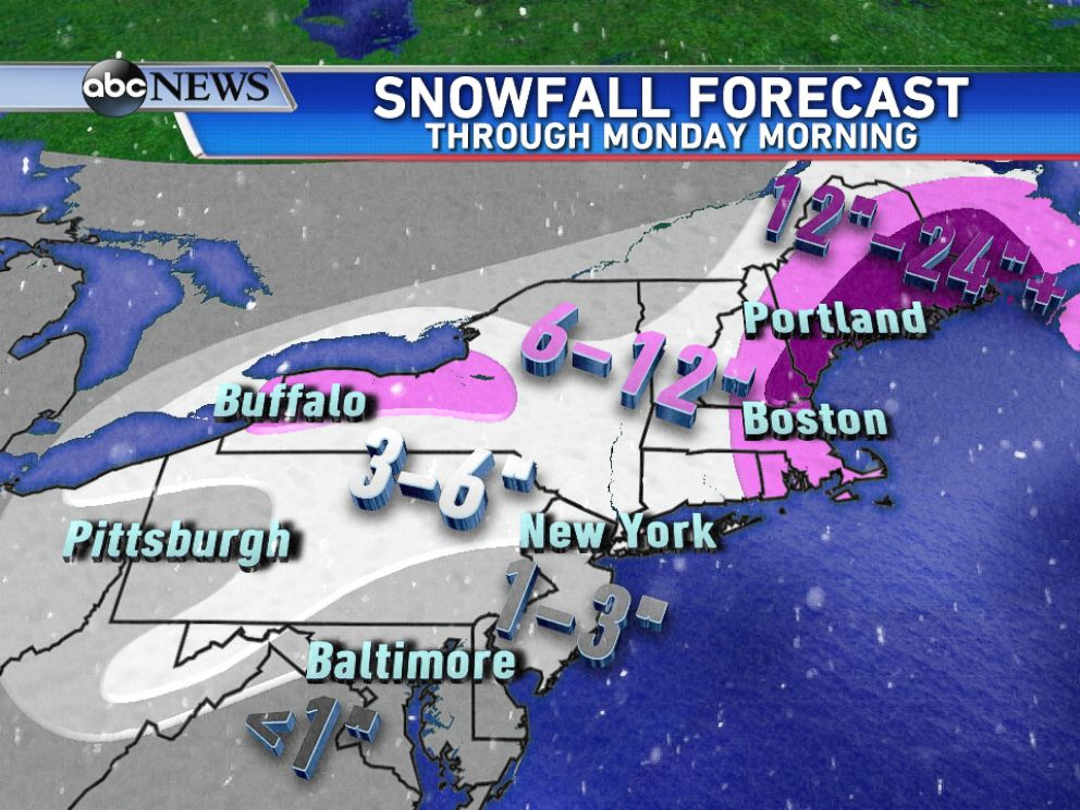 Boston Braces For More Snow As Strong Winds Take Aim On The - Us snow forecast map