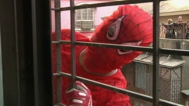 ABC spiderman kab 140408 16x9 608 Spiderman Scales Office Buildings to Capture Votes