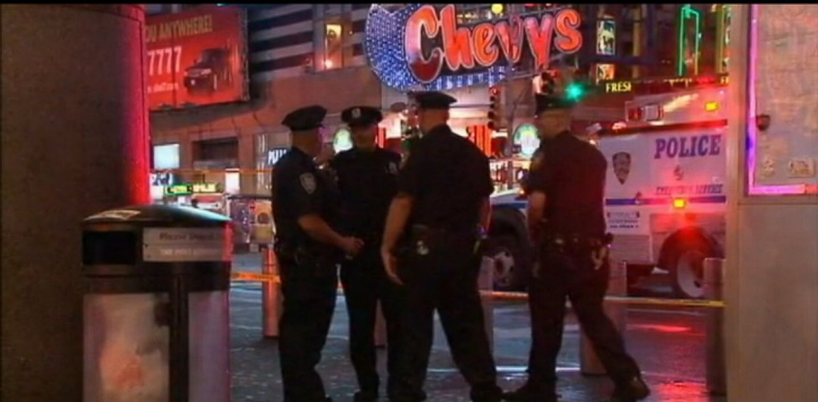 PHOTO: NYPD officers in Times Square