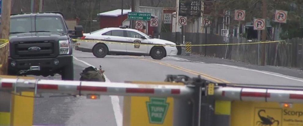 PHOTO: Pennsylvania Turnpike officials say the suspect shot and killed by police after a robbery attempt that turned violent was a retired state trooper.