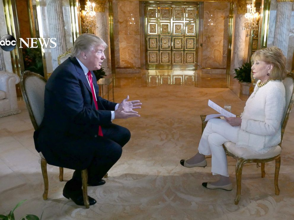 PHOTO: Donald Trump sits down with Barbara Walters for an interview to air on ABC News 20/20.